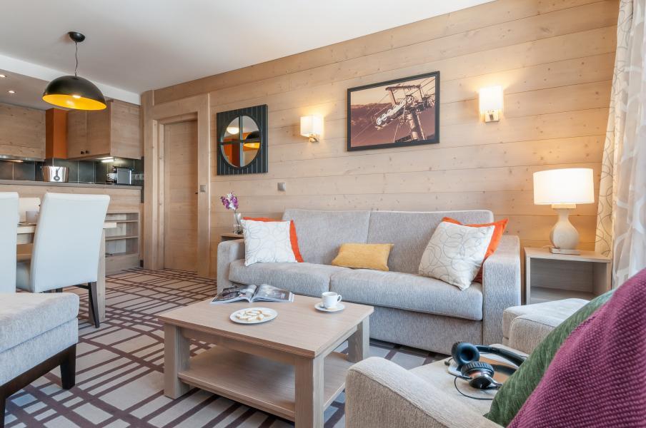 Urlaub in den Bergen Résidence P&V Premium les Terrasses d'Helios - Flaine - Kleines Wohnzimmer