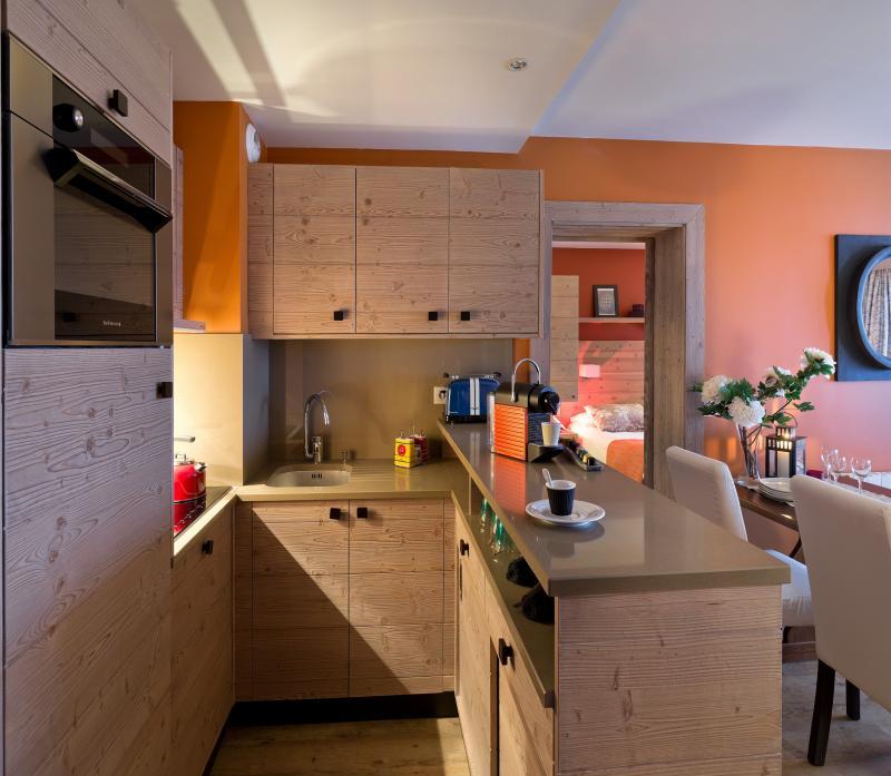 Urlaub in den Bergen Résidence P&V Premium les Terrasses d'Helios - Flaine - Küche