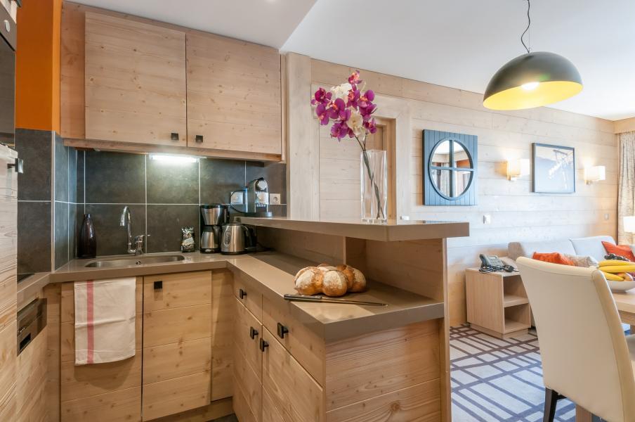 Urlaub in den Bergen Résidence P&V Premium les Terrasses d'Helios - Flaine - Offene Küche