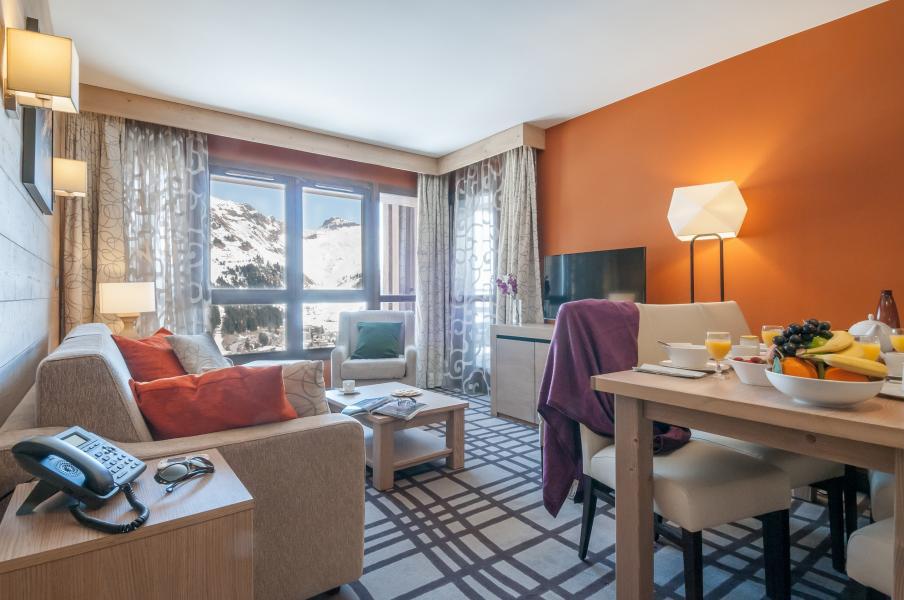 Urlaub in den Bergen Résidence P&V Premium les Terrasses d'Helios - Flaine - Wohnzimmer