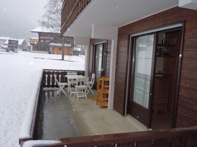 Wakacje w górach Apartament 2 pokojowy z alkową 4 osoby (PNG004B) - Résidence Perce Neige - Châtel - Taras