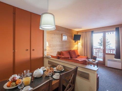Urlaub in den Bergen Résidence Pierre & Vacances l'Ours Blanc - Alpe d'Huez - Wohnzimmer