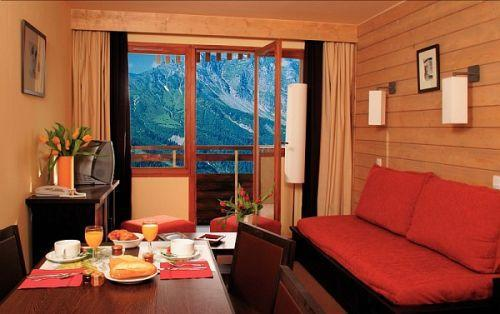 Vakantie in de bergen Résidence Pierre & Vacances Saskia Falaise - Avoriaz - Woonkamer