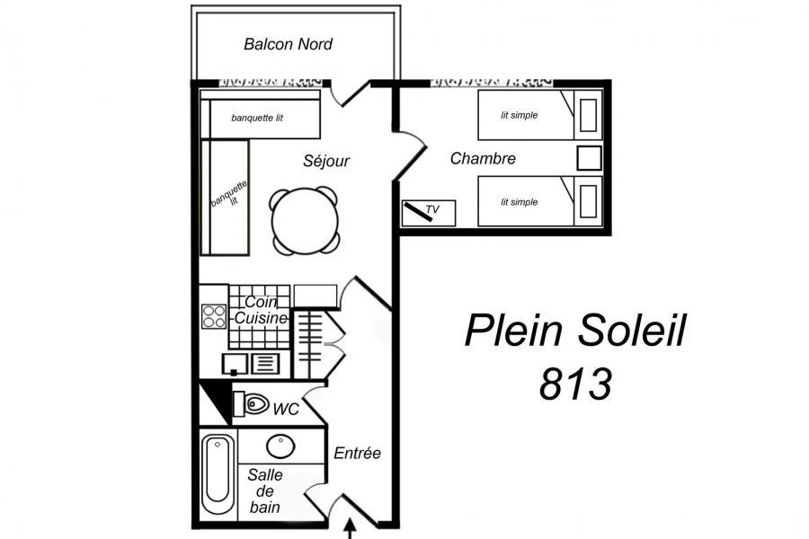Vacanze in montagna Appartamento 2 stanze per 4 persone (813) - Résidence Plein Soleil - Méribel-Mottaret