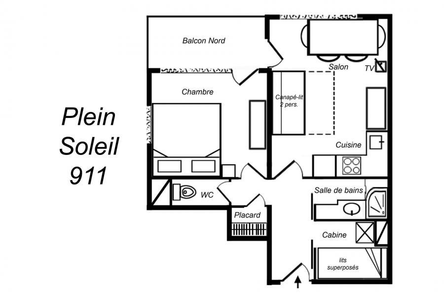 Vacances en montagne Appartement 3 pièces cabine 6 personnes (911) - Résidence Plein Soleil - Méribel-Mottaret