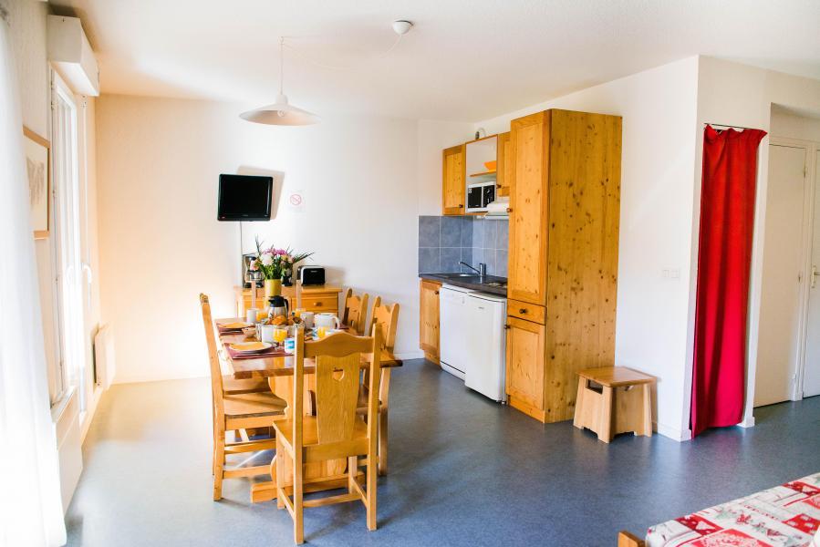 Urlaub in den Bergen Résidence Plein Soleil - La Norma - Offene Küche