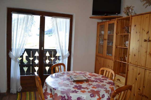 Vacaciones en montaña Apartamento cabina 2 piezas para 4 personas (PLPA16) - Résidence Praz les Pistes - Praz sur Arly - Comedor