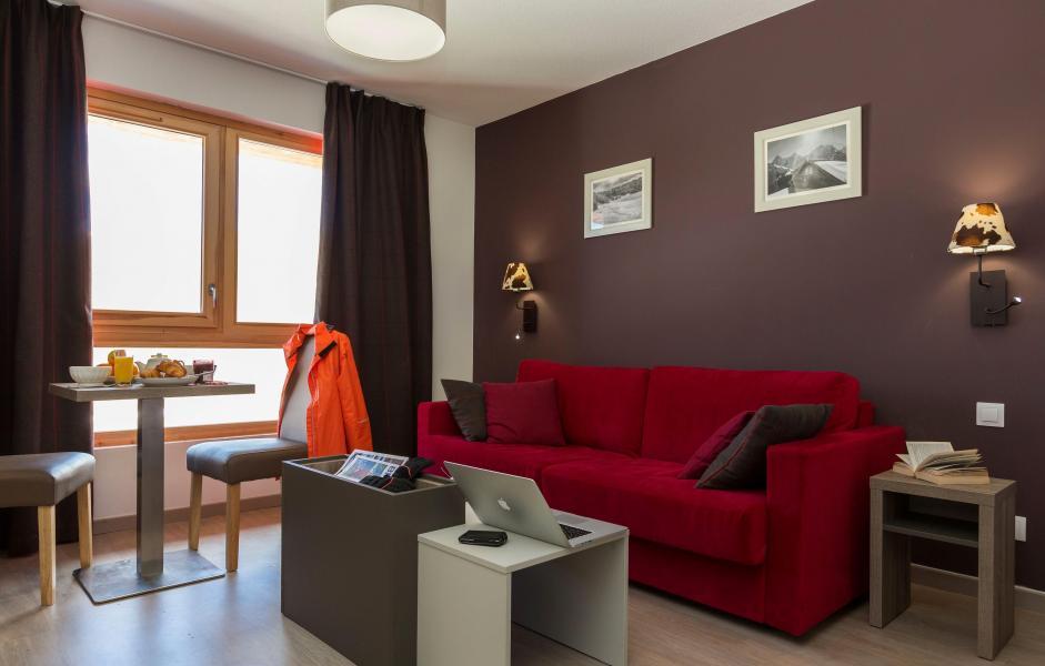 Urlaub in den Bergen Résidence Prestige Front de Neige - La Plagne - Wohnzimmer