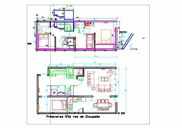 Urlaub in den Bergen 5 Zimmer Maisonettewohnung für 10 Personen (PRI61) - Résidence Primevères - Gourette - Plan