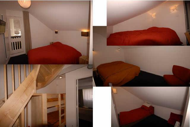 Holiday in mountain resort 5 room duplex apartment 10 people (PRI61) - Résidence Primevères - Gourette - Double bed