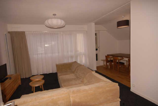 Urlaub in den Bergen 5 Zimmer Maisonettewohnung für 10 Personen (PRI61) - Résidence Primevères - Gourette - Wohnzimmer