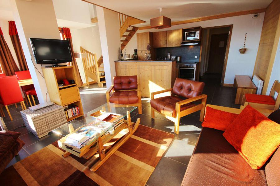 Holiday in mountain resort 4 room duplex apartment 10 people (C59) - Résidence Roc Belle Face C - Les Arcs - Living room