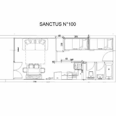 Holiday in mountain resort Studio 6 people (SAN100) - Résidence Sanctus - Gourette