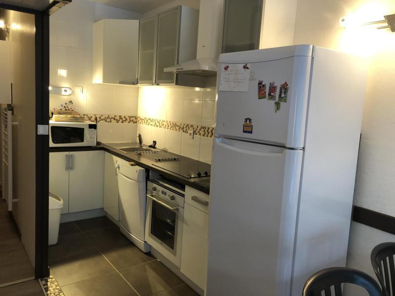 Holiday in mountain resort Studio sleeping corner 6 people (SAN37) - Résidence Sanctus - Gourette - Kitchen