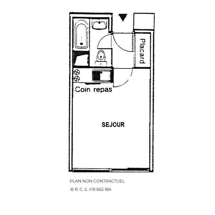 Vacances en montagne Studio cabine 2 personnes (501) - Résidence Sarvan - Les Menuires - Plan