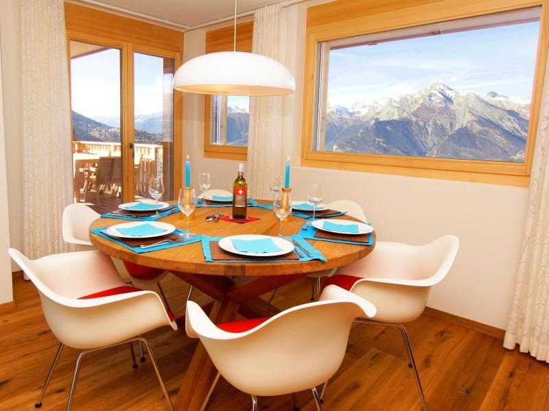 Urlaub in den Bergen Résidence Ski Heaven Veysonnaz - Veysonnaz - Esszimmer