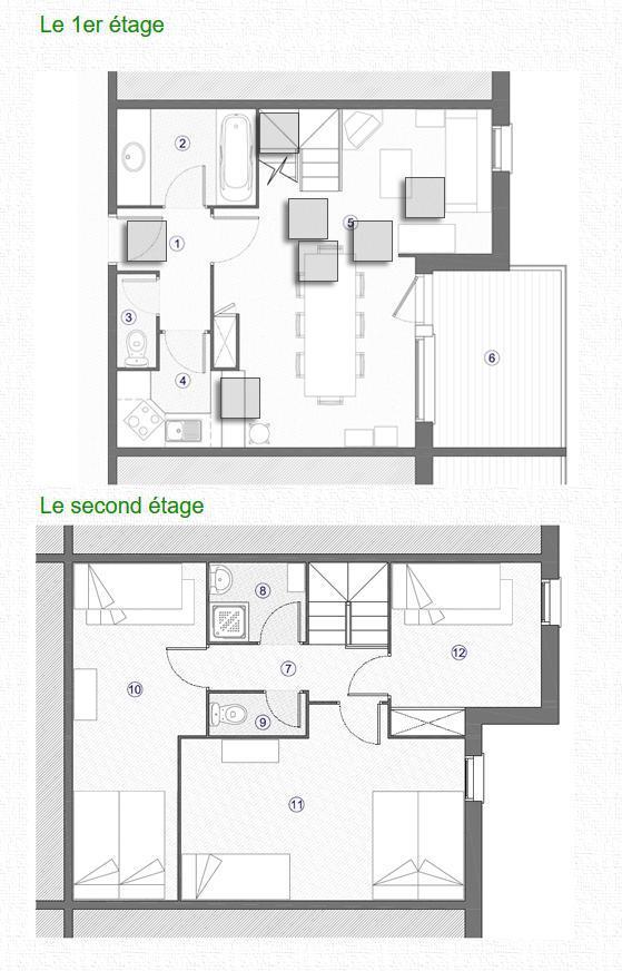 Vacances en montagne Appartement duplex 4 pièces 9 personnes (052) - Résidence Trompe l'Oeil - Montchavin La Plagne - Plan