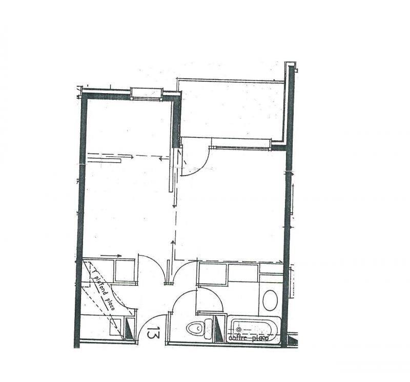 Vacances en montagne Appartement 1 pièces 4 personnes (013) - Résidence Trompe l'Oeil - Montchavin La Plagne
