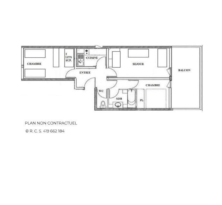 Vacanze in montagna Appartamento 3 stanze per 8 persone (26) - Résidence Vanoise - Les Menuires - Alloggio