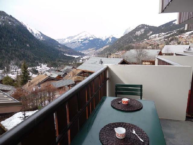 Vacaciones en montaña Estudio -espacio montaña- para 4 personas (VIC010) - Résidence Vicking - Châtel - Balcón