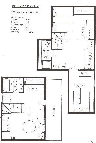 Vacaciones en montaña Apartamento dúplex 3 piezas 6 personas (YT4068) - Résidence Yéti - Châtel - Plano