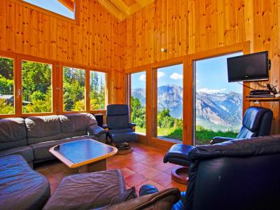 Holiday in mountain resort Chalet Alpina P12 - La Tzoumaz - Living room