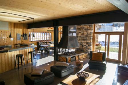 Vacances en montagne Chalet Alpinium 1 - Tignes - Cheminée