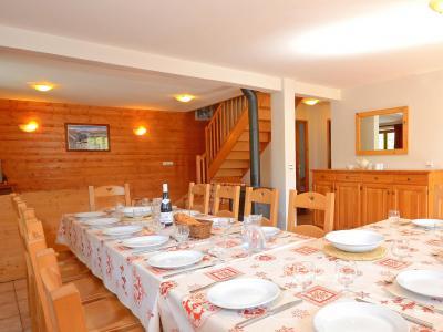 Vacances en montagne Chalet Balcon Cime de Caron - Les Menuires - Salle à manger