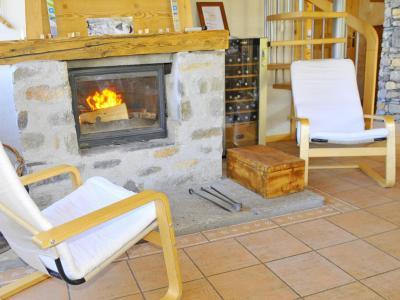Vacances en montagne Chalet Balcon du Paradis - Peisey-Vallandry - Cheminée