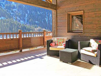 Holiday in mountain resort Chalet Champagny Cpg01 - Champagny-en-Vanoise - Terrace