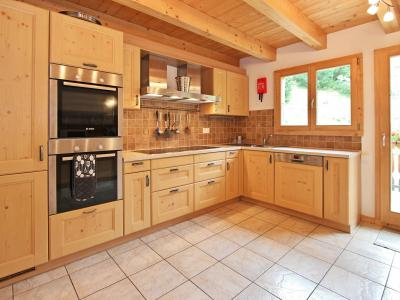 Vacances en montagne Chalet Charmille - La Tzoumaz - Cuisine ouverte