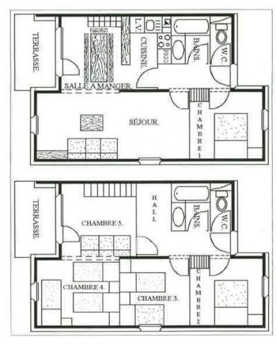 Vacances en montagne Appartement duplex 6 pièces 13 personnes - Chalet Cristal - Les Menuires - Plan
