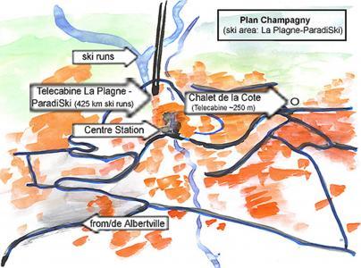 Vacances en montagne Chalet de la Côte - Champagny-en-Vanoise - Plan