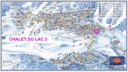 Vacanze in montagna Chalet du Lac 3 - Les Saisies - Mappa