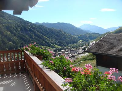 Holiday in mountain resort 2 room apartment cabin 6 people - Chalet Etche Ona - Le Grand Bornand - Balcony