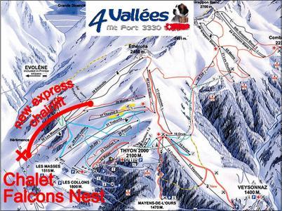 Vacances en montagne Chalet Falcons Nest - Thyon - Plan