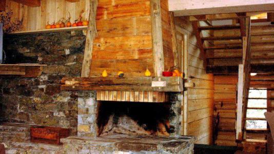 Vacances en montagne Chalet Gran Koute - Les Menuires - Cheminée