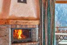 Vacances en montagne Chalet Grand Arbet - Champagny-en-Vanoise - Cheminée