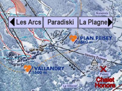 Vacances en montagne Chalet Honoré - Peisey-Vallandry - Plan