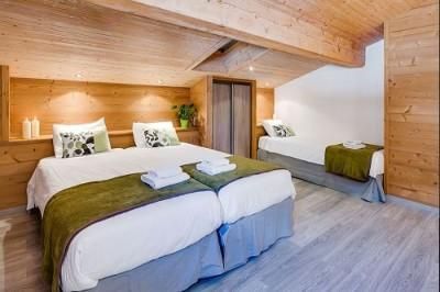 Holiday in mountain resort 6 room chalet 15 people (401) - Chalet Joubarde - Le Grand Bornand - Bedroom under mansard
