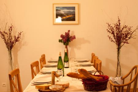 Vakantie in de bergen Chalet la Dame Blanche - Les Menuires - Tafel