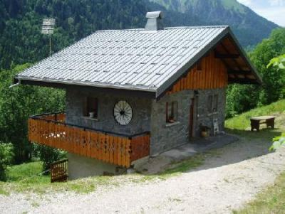 Rent in ski resort 2 room duplex chalet 5 people - Chalet la Fouine - Châtel - Summer outside