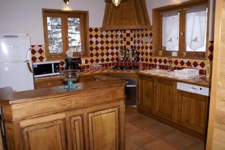 Vacances en montagne Chalet duplex 5 pièces 8-10 personnes - Chalet la Sauvire - Champagny-en-Vanoise - Cuisine ouverte