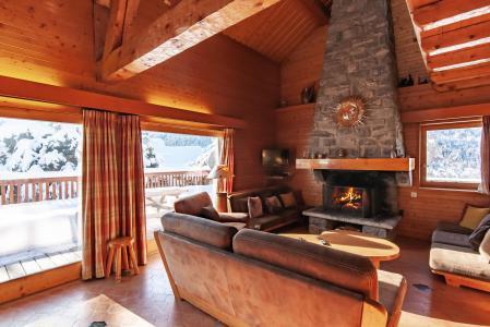 Vacances en montagne Chalet 7 pièces 12 personnes - Chalet le Grillon - Méribel - Séjour