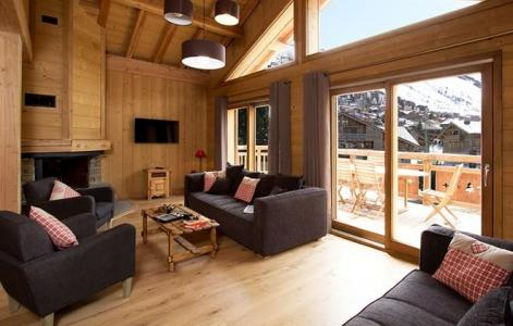 Holiday in mountain resort Chalet Levanna Occidentale - Les 2 Alpes - Living room