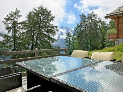 Vacances en montagne Chalet Marguerite - Thyon - Terrasse