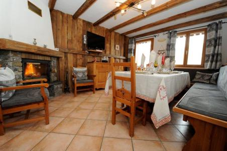 Holiday in mountain resort 5 room cabin triplex apartment 8 people - Chalet Marie Gros - Saint Martin de Belleville - Dining area