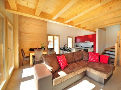 Holiday in mountain resort Chalet Ourson Blanc - Thyon - Living room