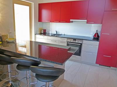 Holiday in mountain resort Chalet Ourson Blanc - Thyon - Open-plan kitchen