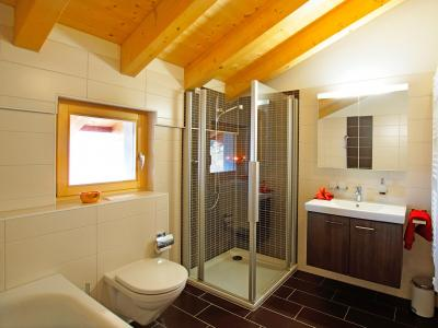 Holiday in mountain resort Chalet Ourson Blanc - Thyon - Shower